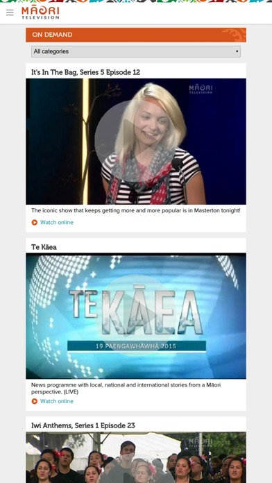Screenshot for Māori Television Connect in New Zealand App Store