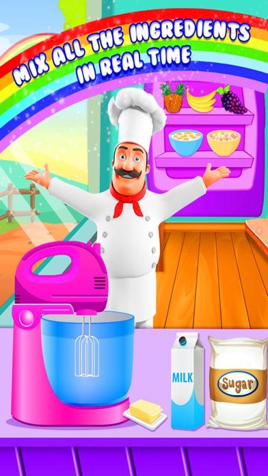 Rainbow Cake Maker - Cooking Rainbow Birthday Cake screenshot two