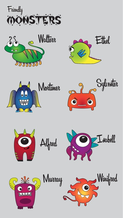 Friendly Monsters Sticker Pack screenshot-3