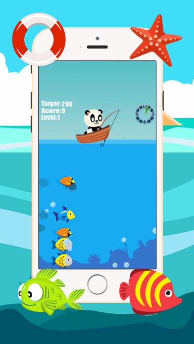 Panda fishing game for children age 2-5 screenshot four