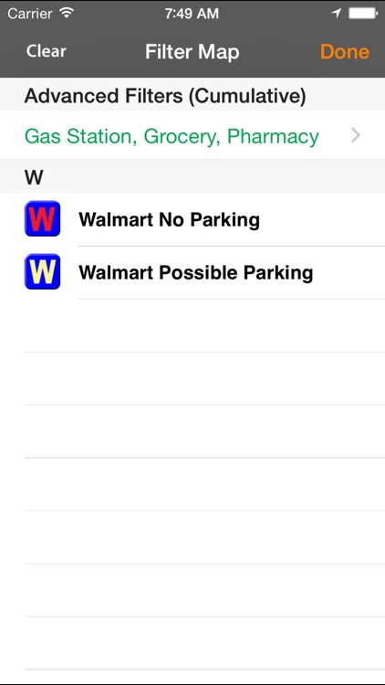 Walmart Overnight Parking Locator screenshot-3