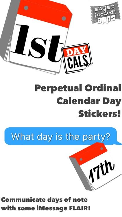 DayCals: Ordinal Perpetual Calendar Stickers
