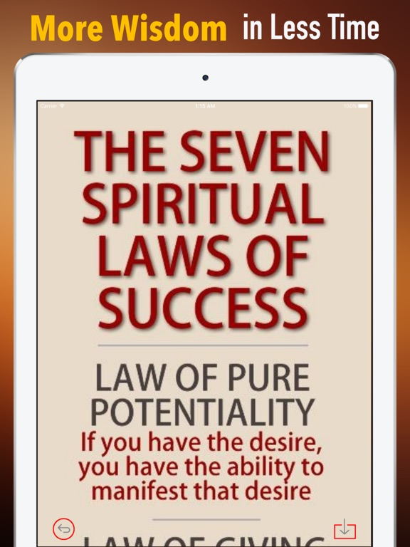 the seven spiritual laws of success essay The seven spiritual laws of yoga: a practical guide to healing body, mind, and spirit lords of light power, freedom, and grace: living from the source of lasting happiness.