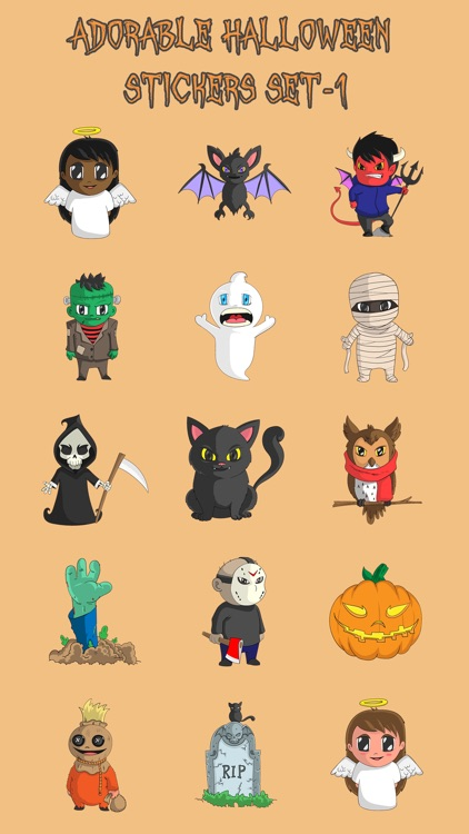 Adorable Halloween Stickers