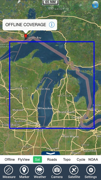 Michigan & Superior Lakes HD GPS Map Navigator screenshot-4