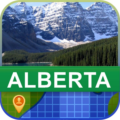 Offline Alberta, Canada Map - World Offline Maps