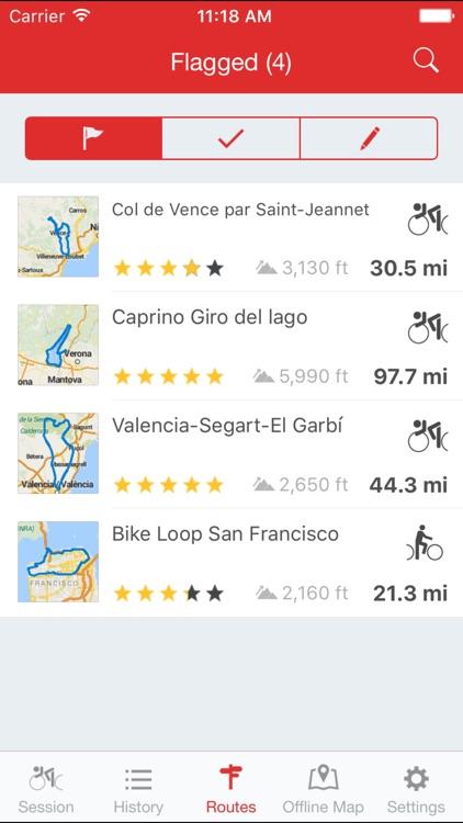 Runtastic Road Bike GPS Cycling Route Tracker PRO screenshot-4