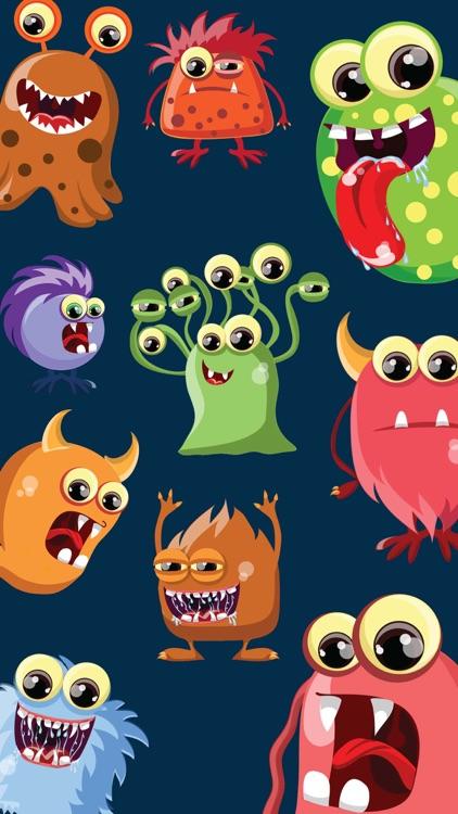 Cartoon Monsters Stickers
