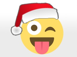 All your favorite emojis wearing santa hats