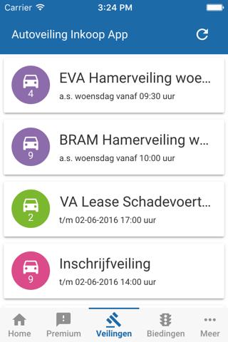 Inkoop App Autoveiling.nl - náhled