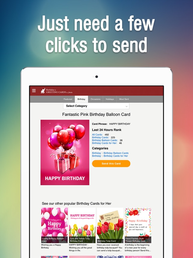 Birthday greeting cards on the app store bookmarktalkfo Choice Image