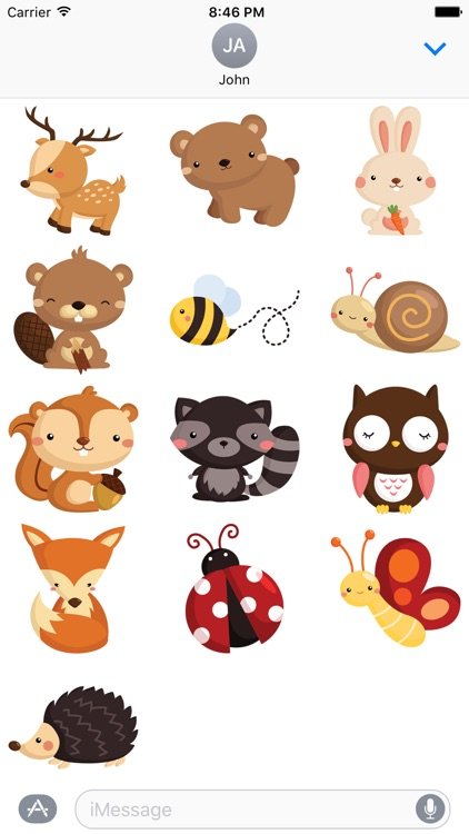 Forrest Animal Stickers