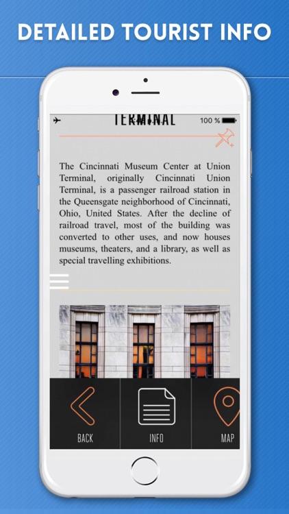 Cincinnati Travel Guide and Offline City Map