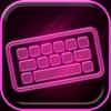 霓虹粉色键盘 – 惊人的字体和背景与表情符号为iPhone