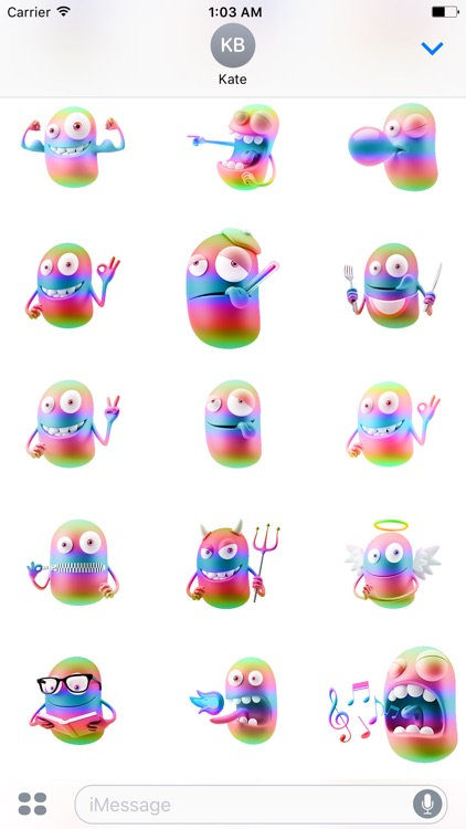 3D Spectrum Smileys