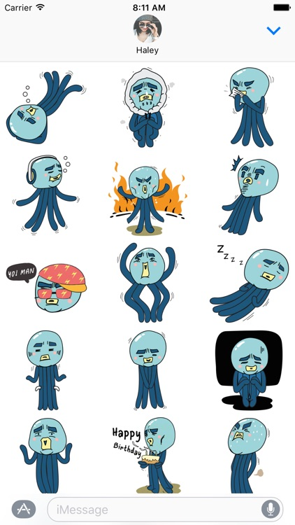 Cranky Octo - Octopus Stickers for iMessage screenshot-4