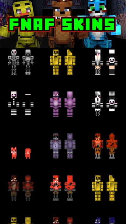 FNAF Skins for Minecraft PE - Pocket Edition Skins
