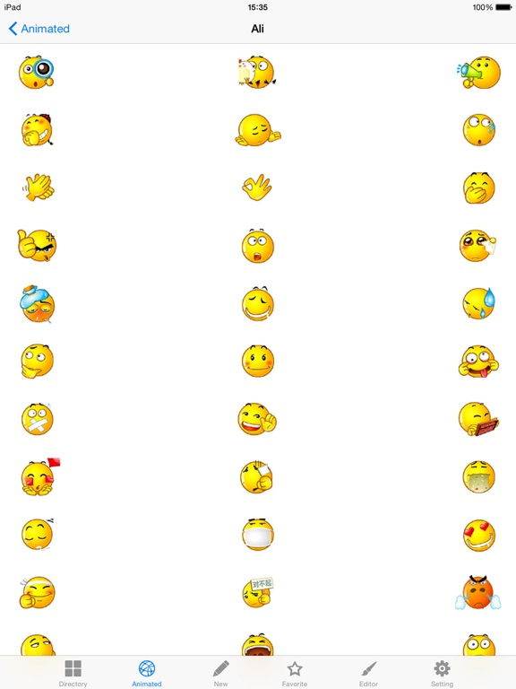 New Emojis & Smileys animated text icons emoticons-ipad-2