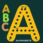 ABC Alphabets worksheet for kindergarten learning icon