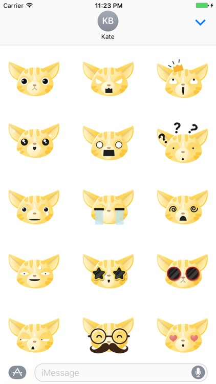 Sticker Me: Yellow Cat Faces