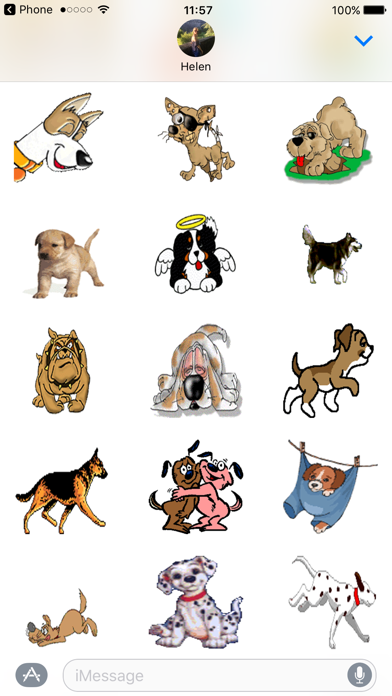 Dog Emoji Animated Sticker Pack for iMessageScreenshot of 3
