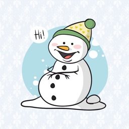 Snowman hand drawn for Christmas - Fx Sticker