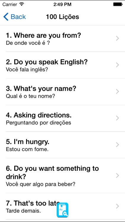 English Study for Portugese - Aprender Inglês screenshot-3