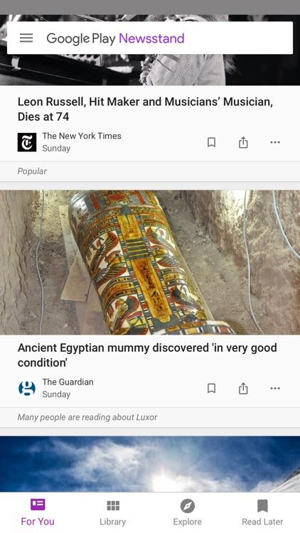 Google Play Newsstand screenshot-0