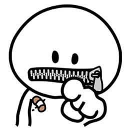 Zipper Man Sticker