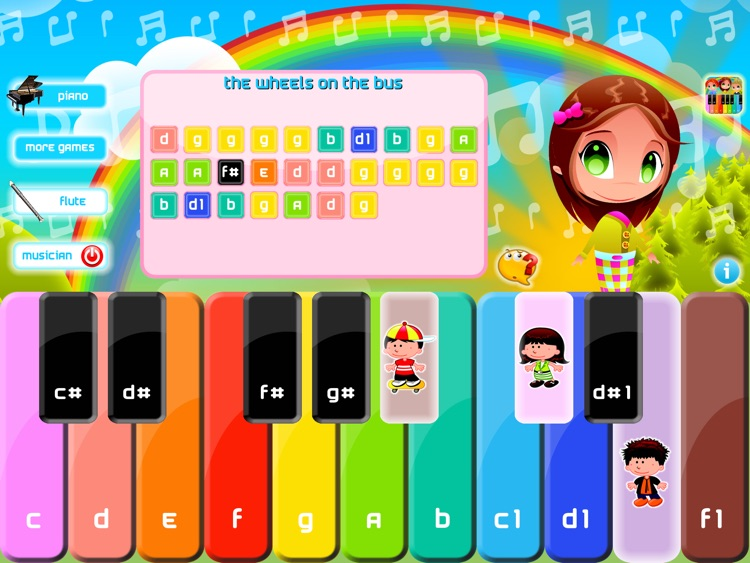 Cute Piano Lite play and learn