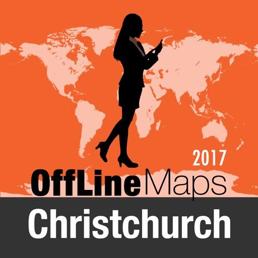 Christchurch mapa offline y guía de viaje