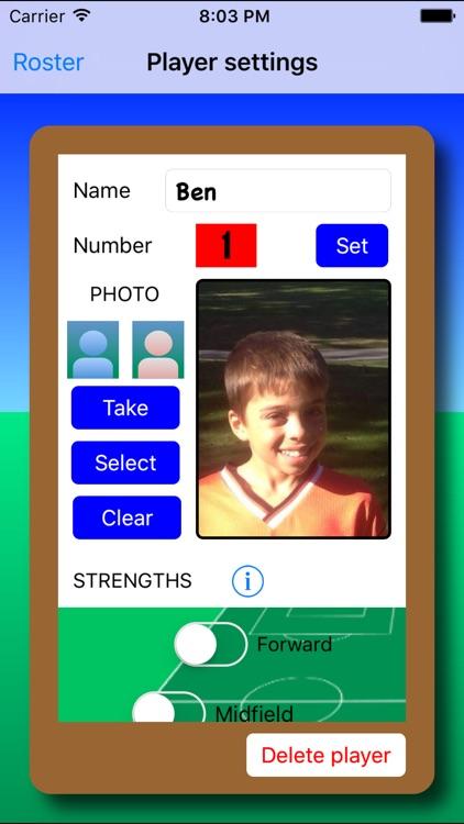 Youth Soccer Lineup screenshot-0