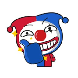 Animated Clown Stickers