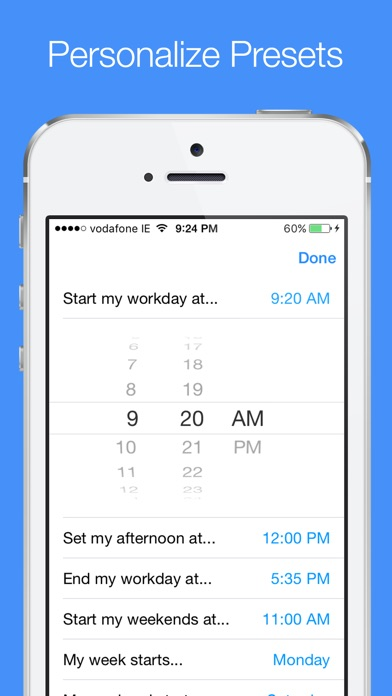 Later - Create Quick Reminders With Presets Screenshot