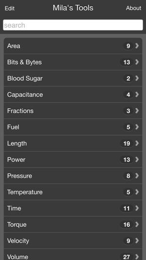 Mila's Tools Unit Converter on the App Store