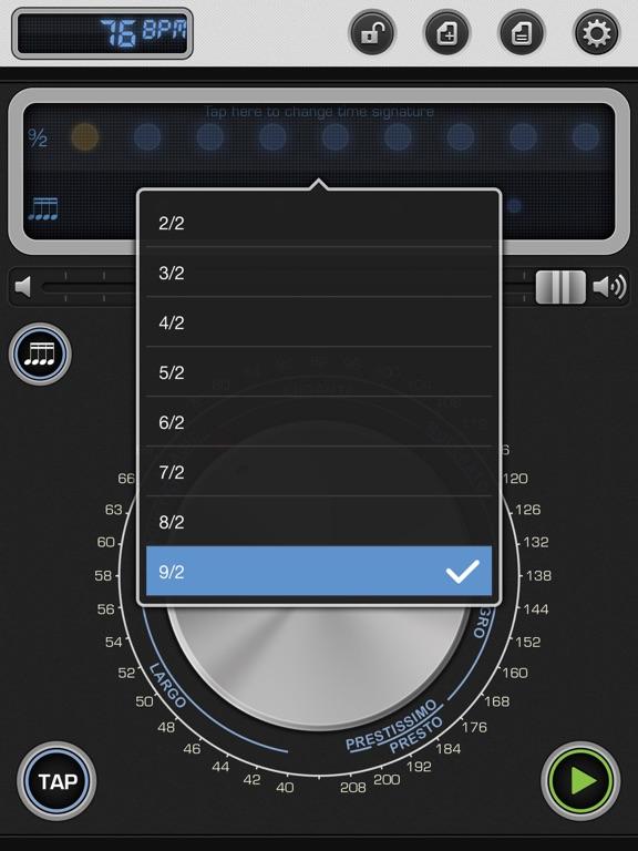 Screenshot #6 pour Metronome 9 - Tempo & Setlists