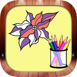 Beautiful Flower Color Book And Painting Pages