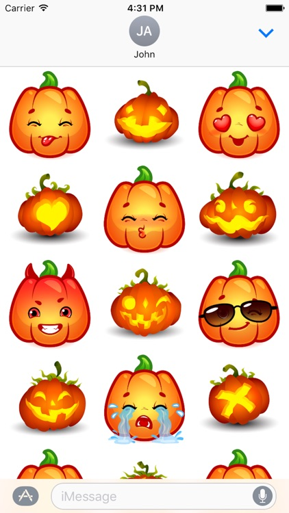 Happy Halloween Pumpkin Sticker Pack 02