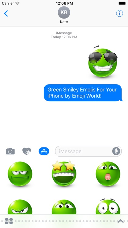 Green Smiley Stickers