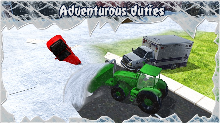 Snow Blower Truck - Real Rescue Excavator screenshot-3