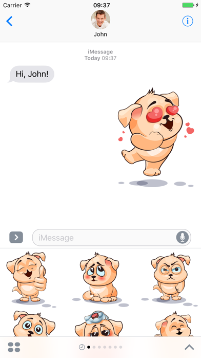Dog - Stickers for iMessage screenshot two