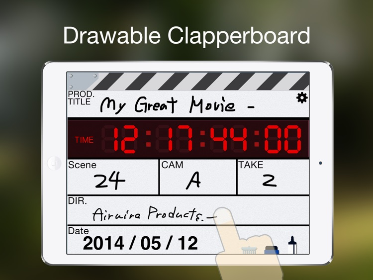 ClapperPod SPEED -Drawable Clapperboard-