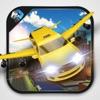 飞行豪华出租车模拟器和汽车飞行测试游戏