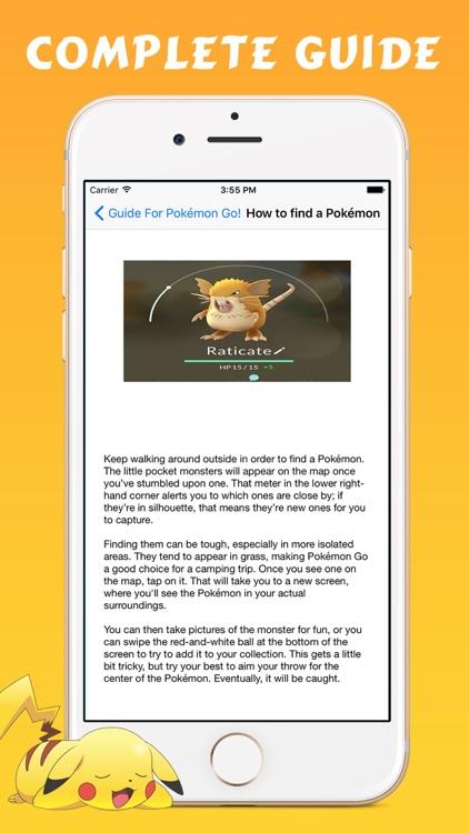 Guide for Pokémon Go - Cheats Tips & Tricks screenshot-3