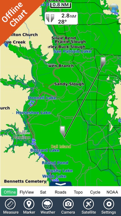 Toledo Bend Texas HD - GPS chart Navigator screenshot-2