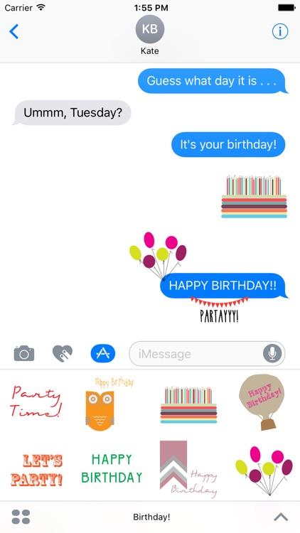 Birthday! Stickers