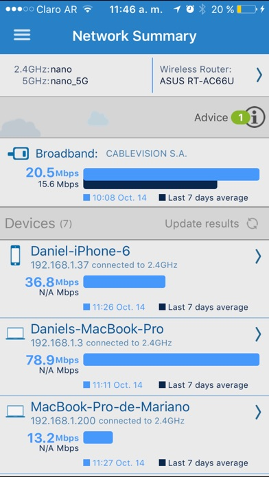 Cloudcheck Screenshot on iOS