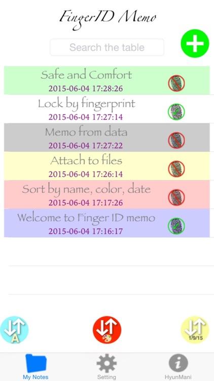 Finger ID Memo + screenshot-0