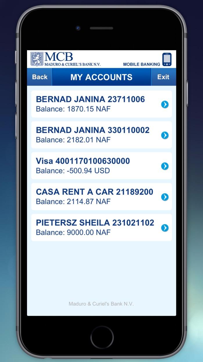 MCB Banking Screenshot