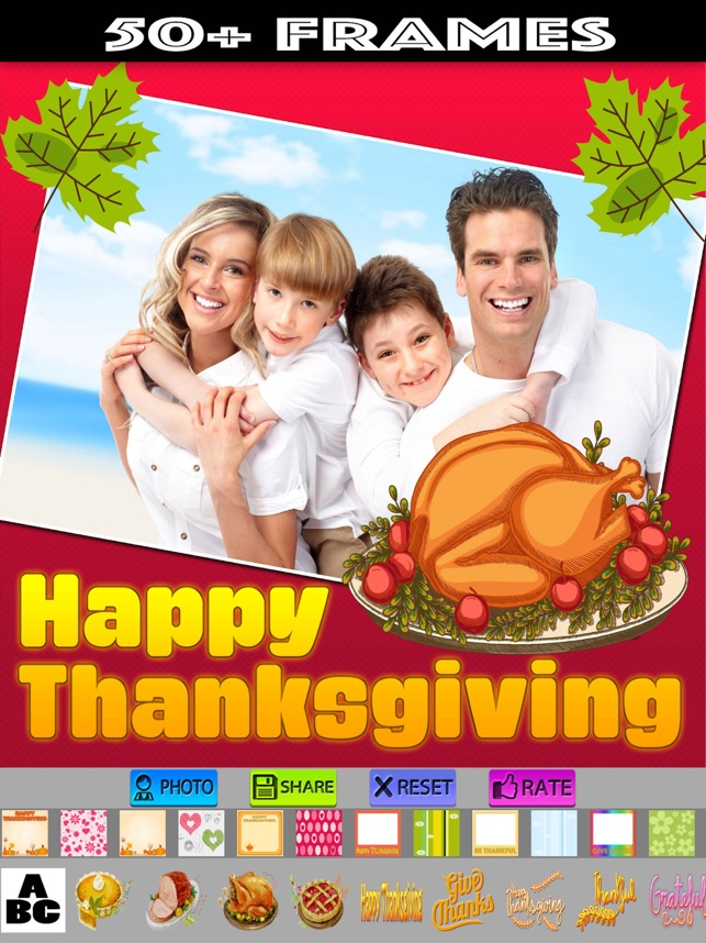 Happy Thanksgiving Photo Frames on the App Store